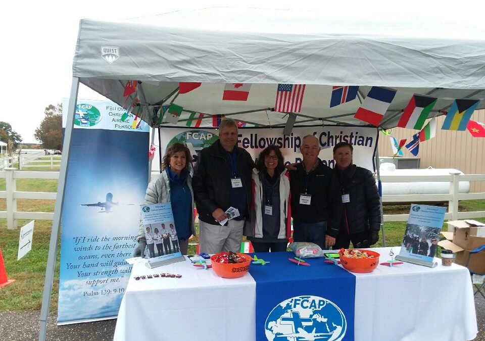 Outreach at Shannon Airport in VA … Rain or Shine!